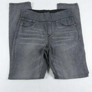 Laurie Felt Womens Jeans Small Straight Leg Gray